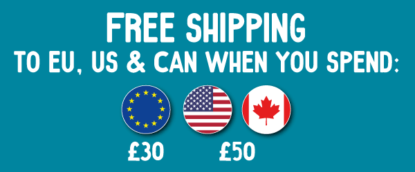 Free Shipping to EU, US & Canada on minimum orders