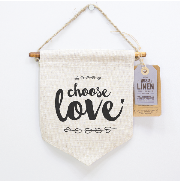 Choose Love, Happy Quotes, Screen Printing, Irish Craft, Linen, Home Decor