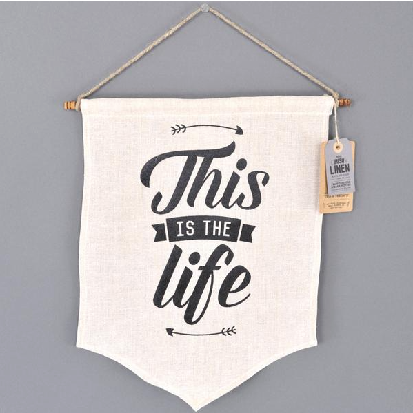 This Is The Life, Irish Craft, Screen Printing, Irish Banners, Made At Home, Screen Printing, Handmade, Itty Bitty Book Co