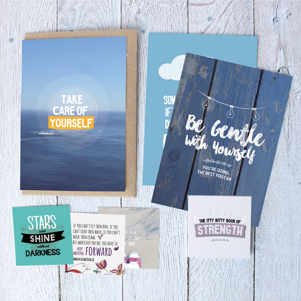 Gift boxes for friends, positive thinking quote books, uplifting gifts for friends