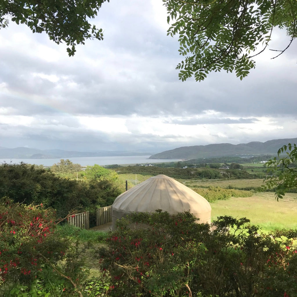 camping in a yurt Donegal Ireland