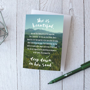 Friendship Greetings Card | Inspirational Quote Cards - Itty Bitty Book Co Inspirational Quote Greeting Cards, Positivity, gift