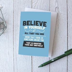 Encouragement Cards | Believe In Yourself Greeting Cards | Inspirational Quote Cards - Itty Bitty Book Co Inspirational Quote Greeting Cards, Positivity, gift