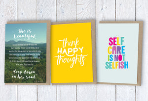Encouragement Cards | Inspirational Quote Cards | Greeting Cards Set - Itty Bitty Book Co Inspirational Quote Greeting Cards, Positivity, gift