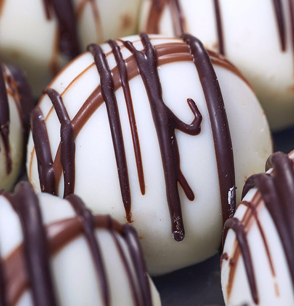 White Chocolate Caramel Truffles at Kayden's Candy Factory