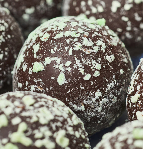 Dark Chocolate Mint Truffles at Kayden's Candy Factory