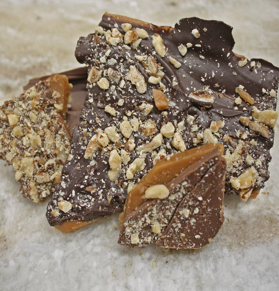 Chocolate Bark: Pecans and Toffee