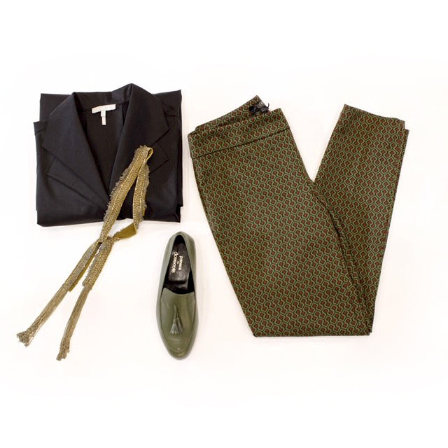 Outfit of the day olive & leather