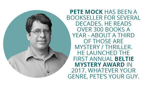 Pete Mock, McIntyre's Books mystery book buyer