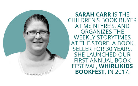 Sarah Carr, children's book buyer at McIntyre's Books