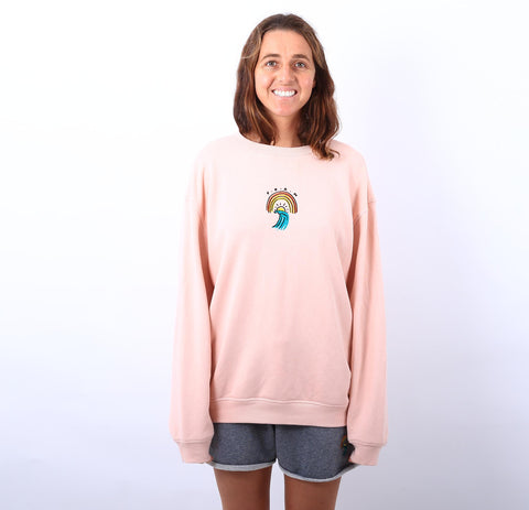 Philippa Anderson rainbow crew sweat