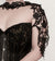 Black lace shoulder piece