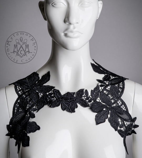 Lace chest harness Reversible body jewelry