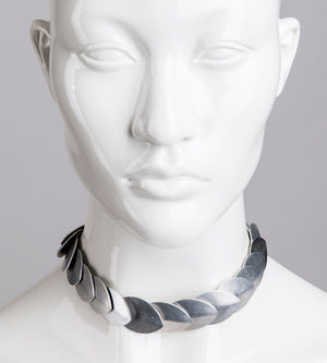 Metal scales armor headband / Metal choker