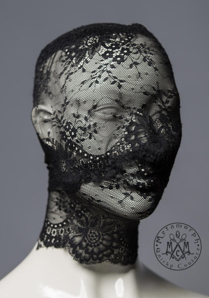Full face lace mask / Pseudo blindfold lace hood