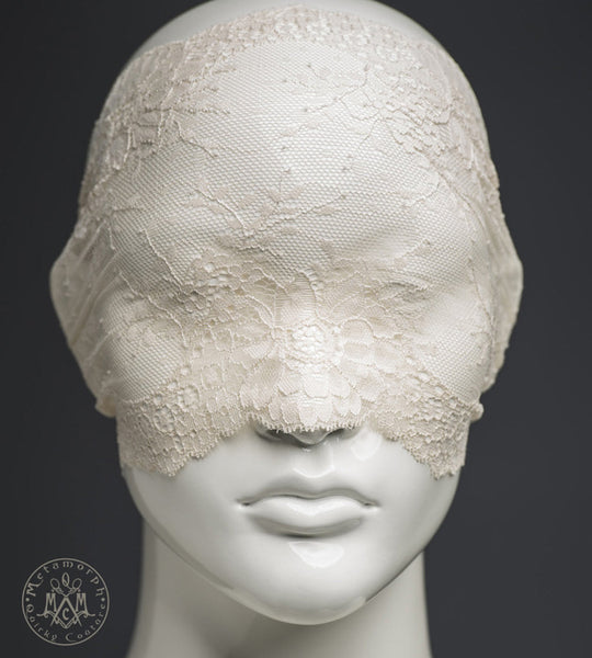 Cream lace mask