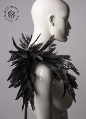 Feather harness / Fierce black shoulder piece