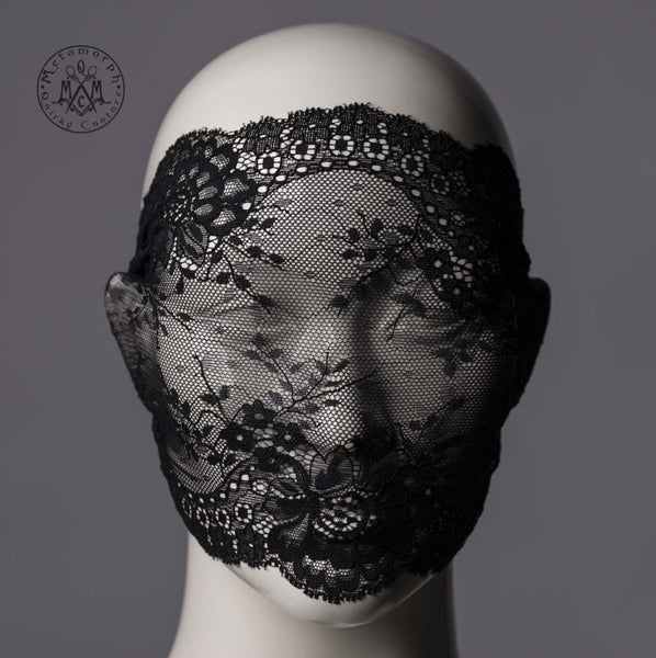 Lace mask Black lace veil