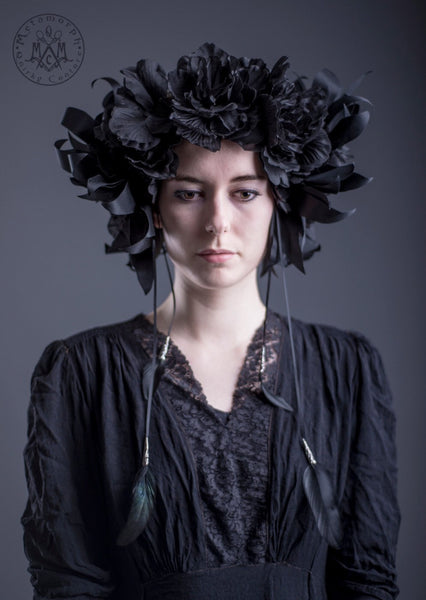 Black flower Wreath crown