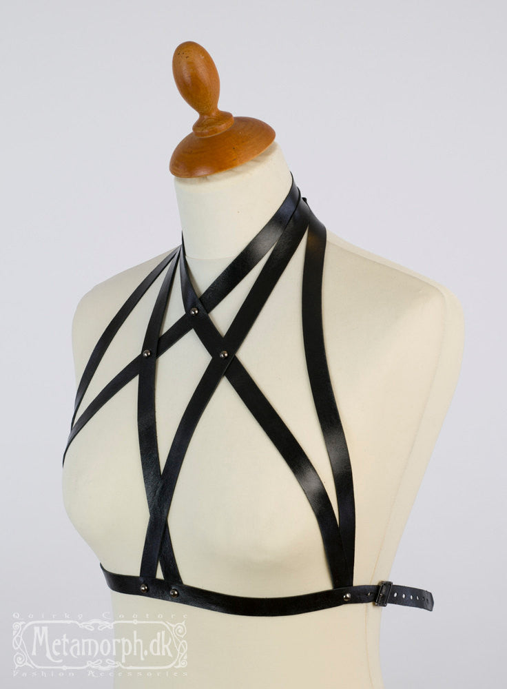 Leather fashion harness
