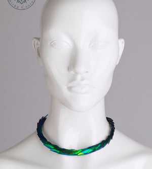 Elytra beetle wings choker necklace