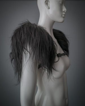 Valkyrie fur shoulder piece / Icelandic sheep wool shoulder harness