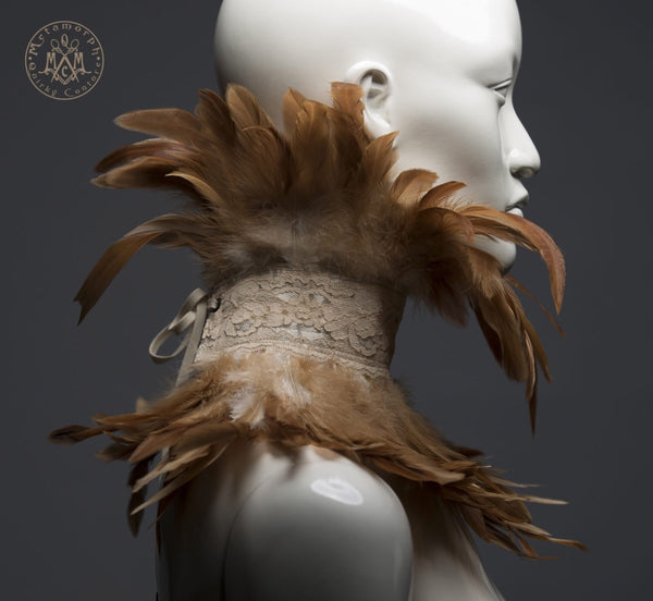 Steampunk feather collar
