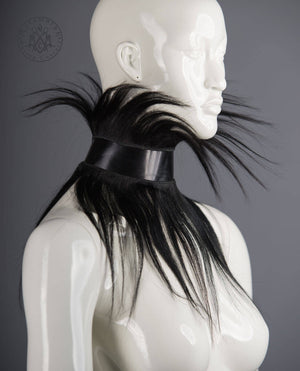 Human hair fringe collar