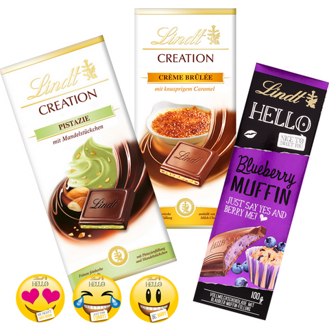Popular Chocolate Brands - Lindt Creation, Lindt Hello, Ritter Sport, Milka - Chocolate & More Delights
