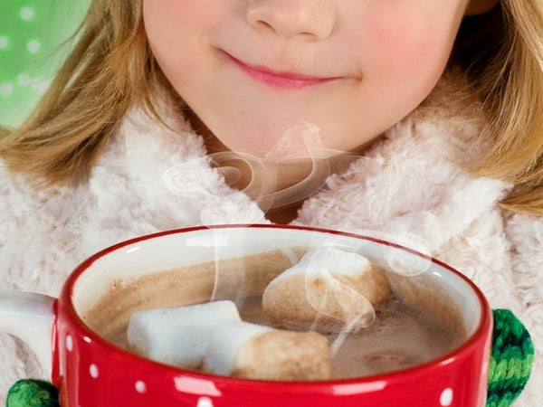 Girl Holding A Cup With Hot Chocolate - Chocolate & More Delights