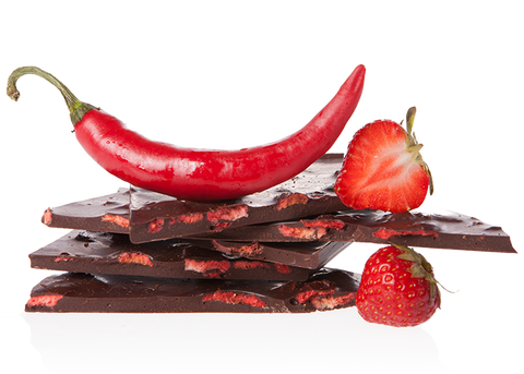 Organic Strawberry & Chili Handbroken Chocolate