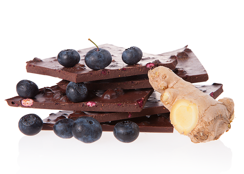 Organic Blueberry & Ginger Handbroken Chocolate