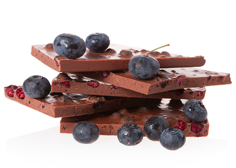 Organic Blueberry Handbroken Milk Chocolate