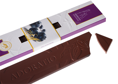Organic Dark Blueberries Chocolate Bar