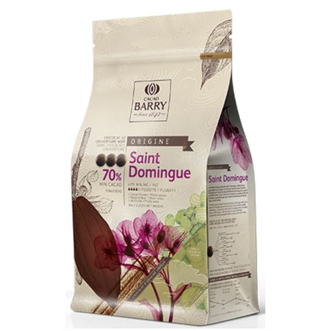 Cacao Barry Dark Couverture Chocolate Santo Domingo 70% - Chocolate & More Delights