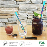 Collapsible Stainless Steel Rainbow Straw - Chocolate & More Delights
