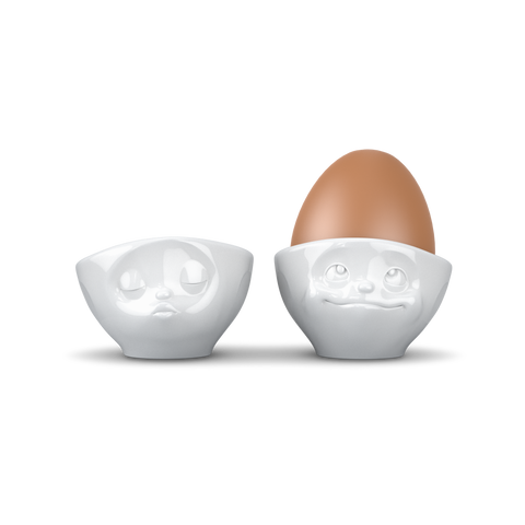 "Emoji Egg Cup Set ""Kissing & Dreamy"""