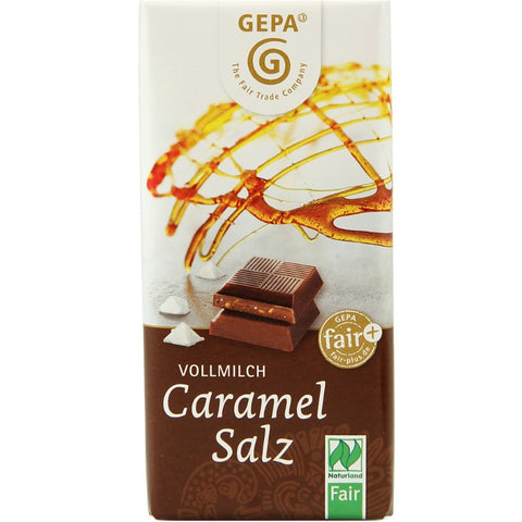 Gepa Fair Trade Chocolate Caramel Salt - Chocolate & More Delights