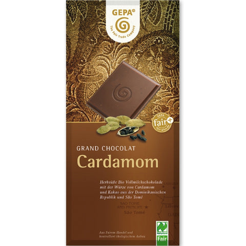 Gepa Fair Trade Chocolate Cardamom - Chocolate & More Delights