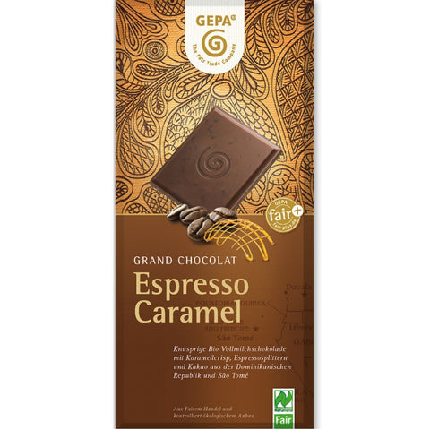 Gepa Fair Trade Chocolate Espresso Caramel - Chocolate & More Delights