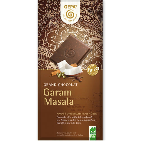 Gepa Fair Trade Chocolate Garam Masala - Chocolate & More Delights