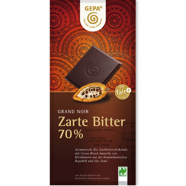 Gepa Fair Trade Dark Chocolate 70% - Chocolate & More Delights