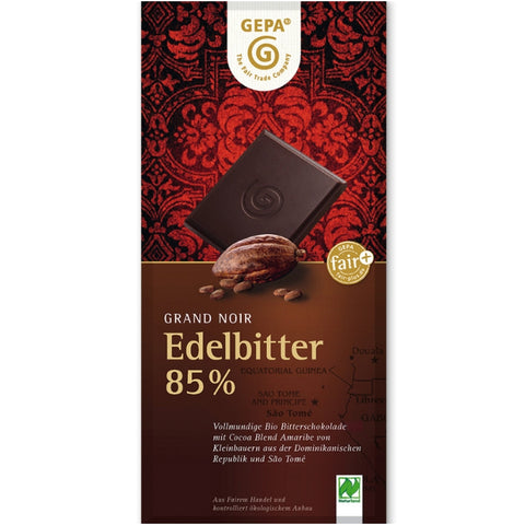 Gepa Fair Trade Dark Chocolate 85% - Chocolate & More Delights