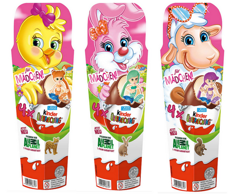 Kinder Surprise 4 Pack Girls Easter