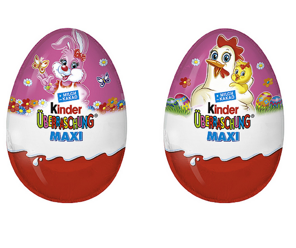 Kinder Surprise Maxi Eggs Easter Edition Girls (3 eggs)-Kinder-Chocolate & More Delights