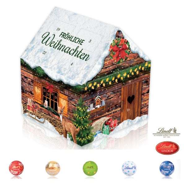 Lindt Christmas Cottage Custom Advent Calendar - Chocolate & More Delights