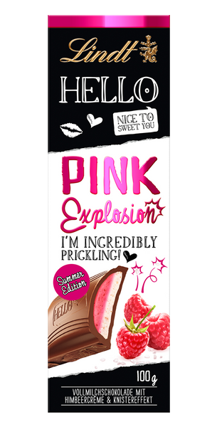 Lindt Hello - Pink Explosion-Chocolate Bar-Chocolate & More Delights