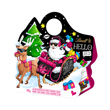 Lindt Hello X-Mas Santa Sleigh Doorhanger-Chocolate & More Delights