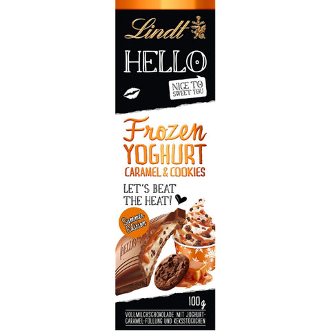 Lindt Hello Frozen Yogurt Caramel & Cookies - Chocolate & More Delights