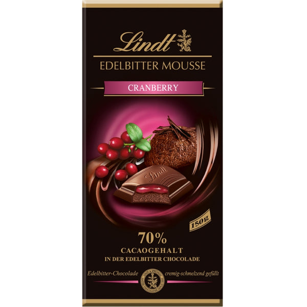 Lindt Mousse Au Chocolat Cranberry - Chocolate & More Delights
